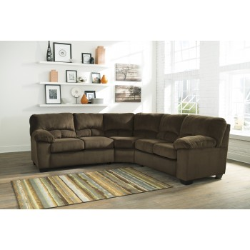 Dailey - Chocolate - LAF Loveseat with Half Wedge