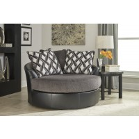 Kumasi - Smoke - Oversized Swivel Accent Chair