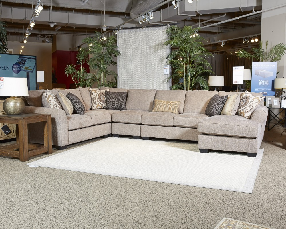 qty sofa brown armless living couch burton has cart successfully added spaces been leather to pdp your