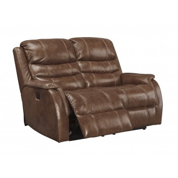 Metcalf - Nutmeg - PWR REC Loveseat/ADJ Headrest