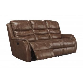Metcalf - Nutmeg - PWR REC Sofa with ADJ Headrest