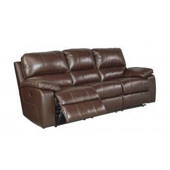 Transister - Coffee - PWR REC Sofa with ADJ Headrest