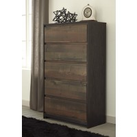 Windlore - Dark Brown - Five Drawer Chest