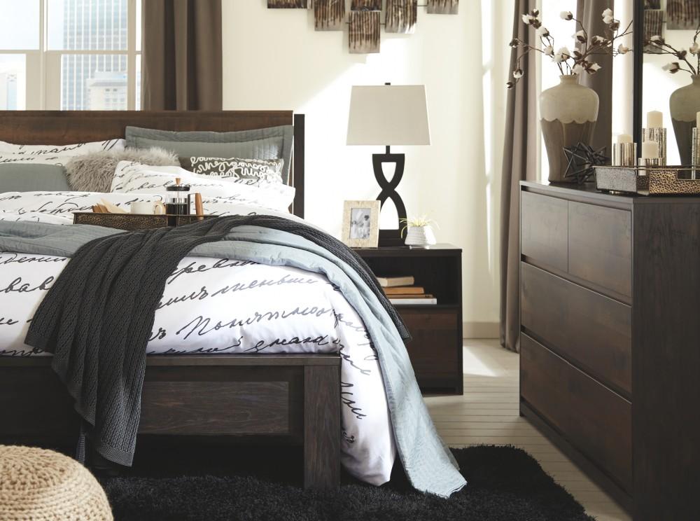 windlore dark brown one drawer night stand b320 91. Black Bedroom Furniture Sets. Home Design Ideas