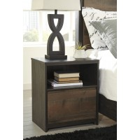 Windlore - Dark Brown - One Drawer Night Stand