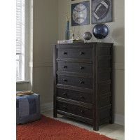 Jaysom - Black - Five Drawer Chest