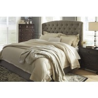 Gerlane - Dark Brown - Queen Upholstered Headboard