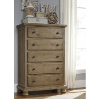 Trishley - Light Brown - Five Drawer Chest