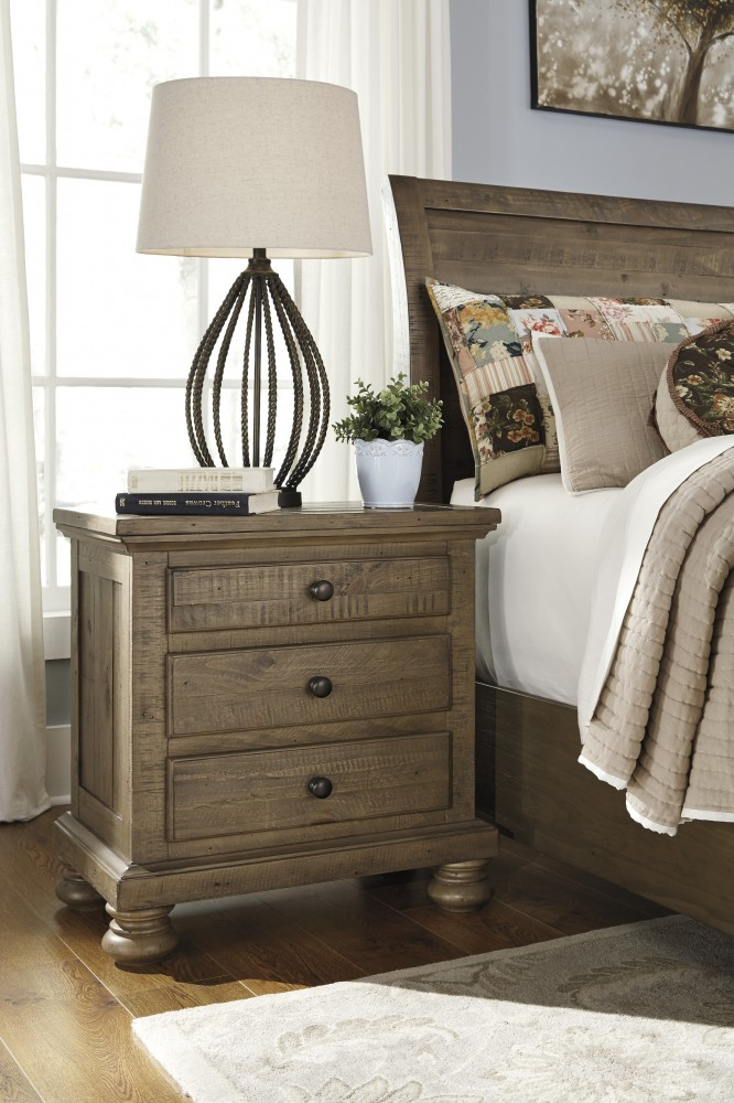 Trishley - Light Brown - Three Drawer Night Stand