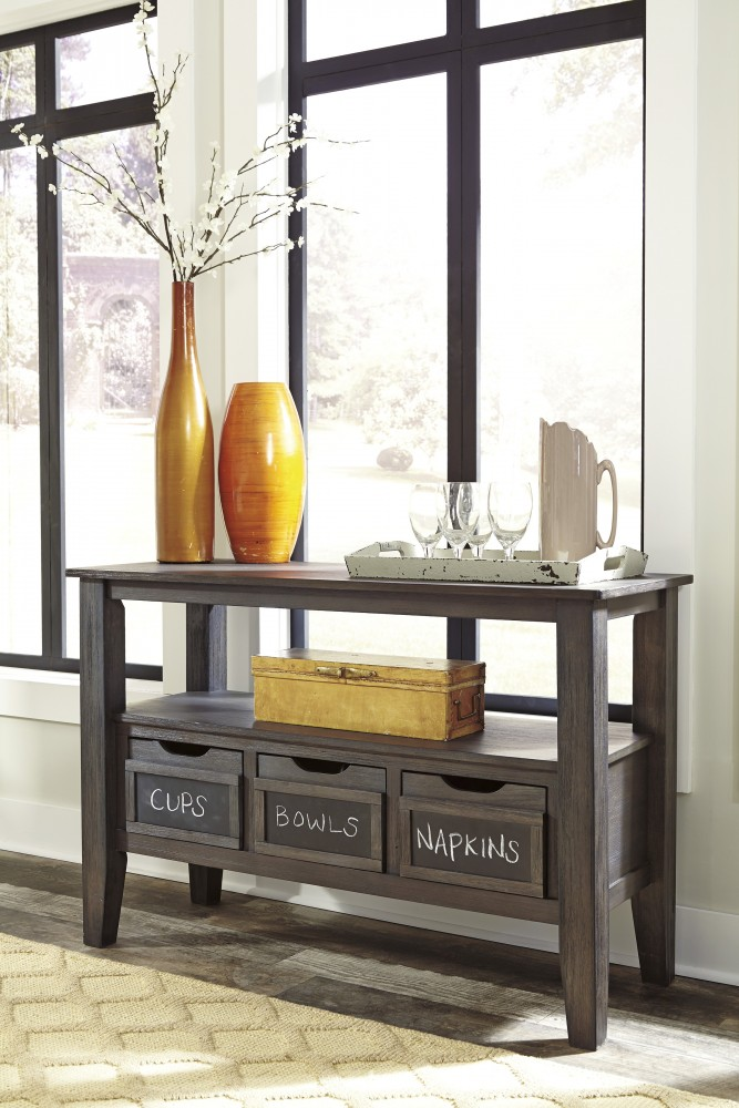 Dresbar - Grayish Brown - Dining Room Server