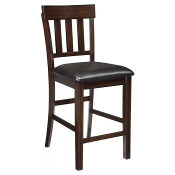 Haddigan - Dark Brown - Upholstered Barstool (2/CN)
