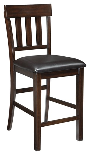Haddigan - Dark Brown - Upholstered Barstool (2/CN)