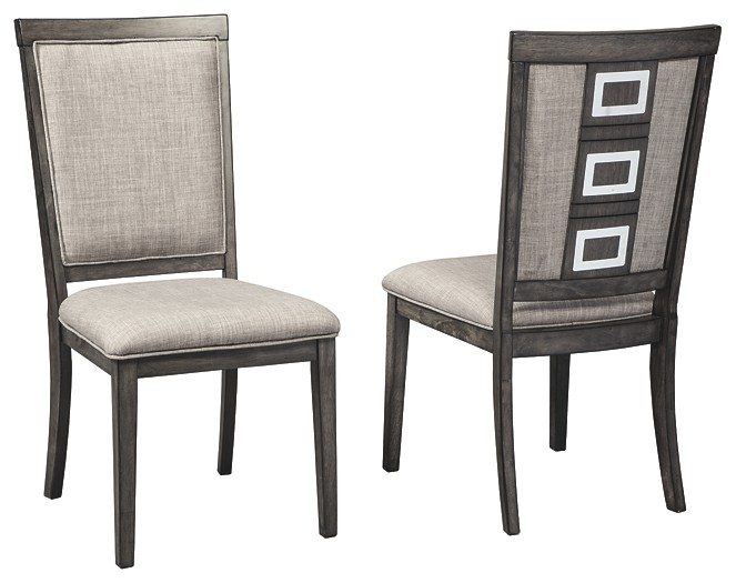 Chadoni - Gray - Dining UPH Side Chair (2/CN)