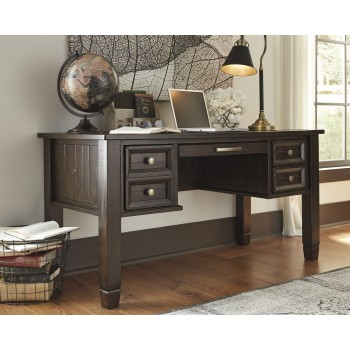 Townser - Grayish Brown - Home Office Desk