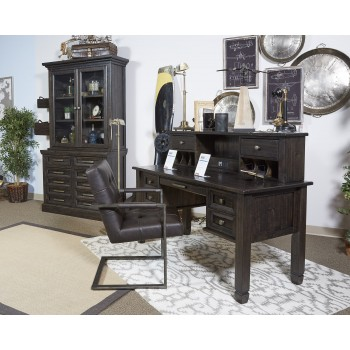 Townser - Grayish Brown - Home Office Desk Hutch