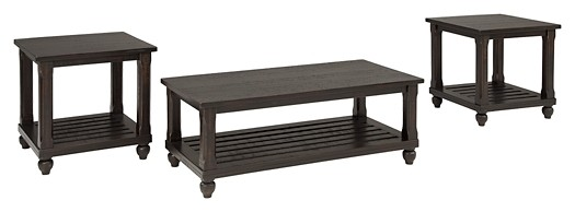 Mallacar - Black - Occasional Table Set (3/CN)