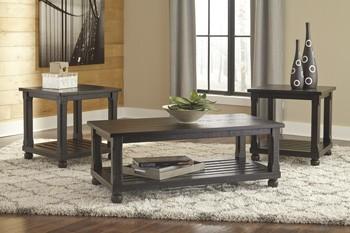 Mallacar - Black - Occasional Table Set (3/CN)