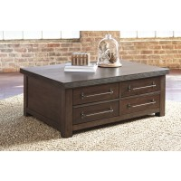 Starmore - Brown - Cocktail Table with Storage