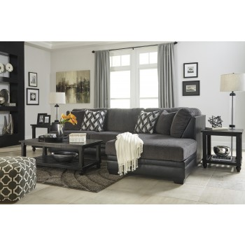 Kumasi - Smoke 2 Pc RAF Corner Chaise Sectional