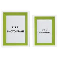 Obie - White/Green - Photo Frame (Set of 2)