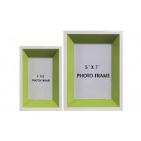 Obie - White/Green - Photo Frame (Set of 2)