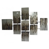 Oeneus - Silver/Brown/Gold Finish - Wall Decor