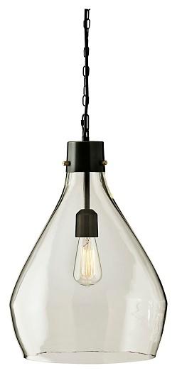 Avalbane - Clear/Gray - Glass Pendant Light (1/CN)