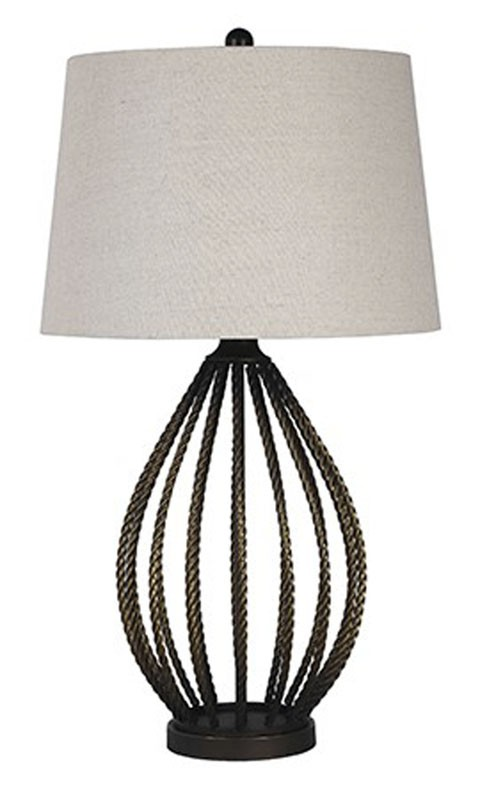Darrius Bronze Finish Metal Table Lamp 1 Cn L207034 Lamps