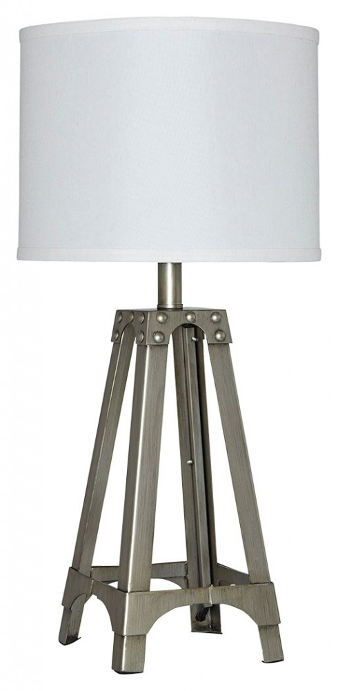 Arty silver finish metal table lamp 1cn l857584 lamps arty aloadofball Image collections