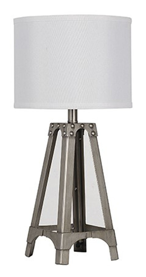 Arty silver finish metal table lamp 1cn l857584 lamps arty silver finish metal table lamp 1cn aloadofball Gallery