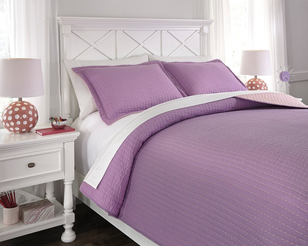 Dansby - Lavender/Pink - Full Coverlet Set