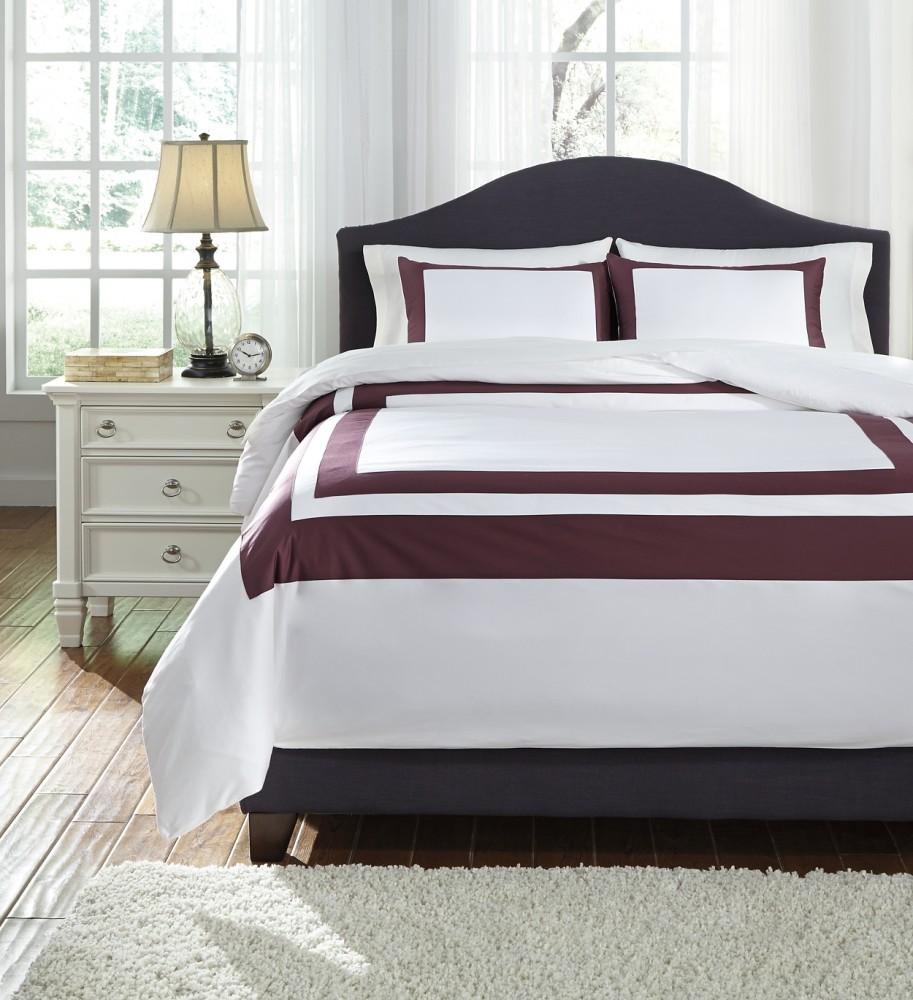 daruka plum king duvet cover set q248023k bedding ensembles price busters furniture. Black Bedroom Furniture Sets. Home Design Ideas