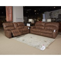 Zavier - Saddle - GLDR REC PWR Loveseat w/Consol