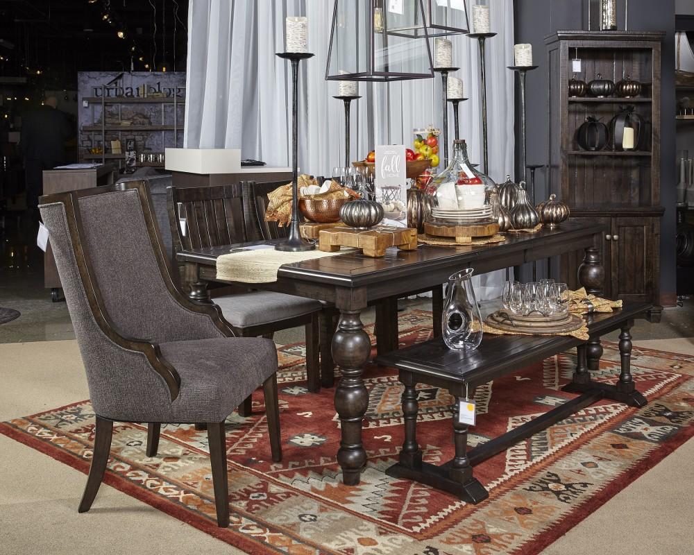 Townser - Grayish Brown - Large Dining Room Bench