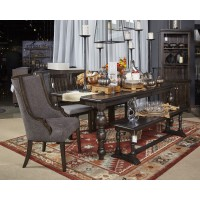 Townser - Grayish Brown - Large Dining Room Bench