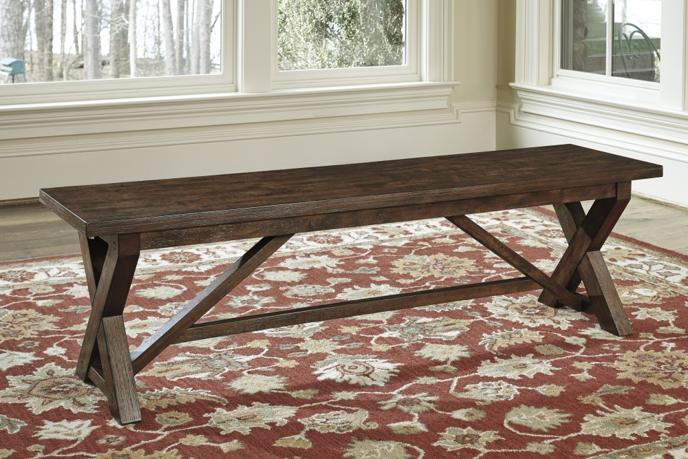 Attractive Windville   Dark Brown   Large Dining Room Bench