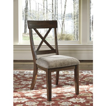Windville - Dark Brown - Dining UPH Side Chair (2/CN)