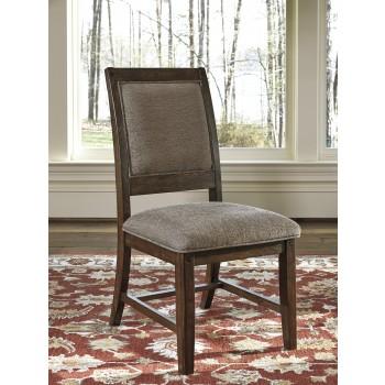 Windville - Dark Brown - Dining UPH Side Chair (2/CN)