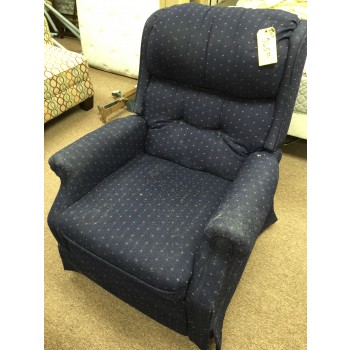 Blue and Red Rocker Recliner