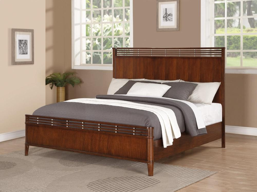 Bali Queen Panel Bed W100990q Complete Beds Abe