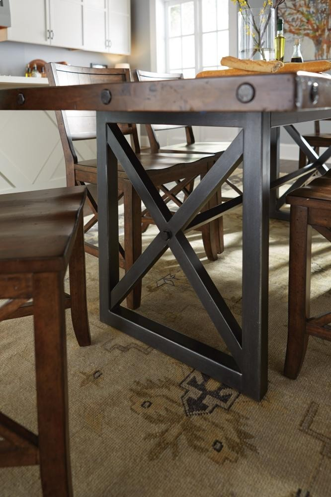 Rustic Cherry Rectangular Table Formal Dining Room Set: Carpenter Rectangular Dining/Counter Table