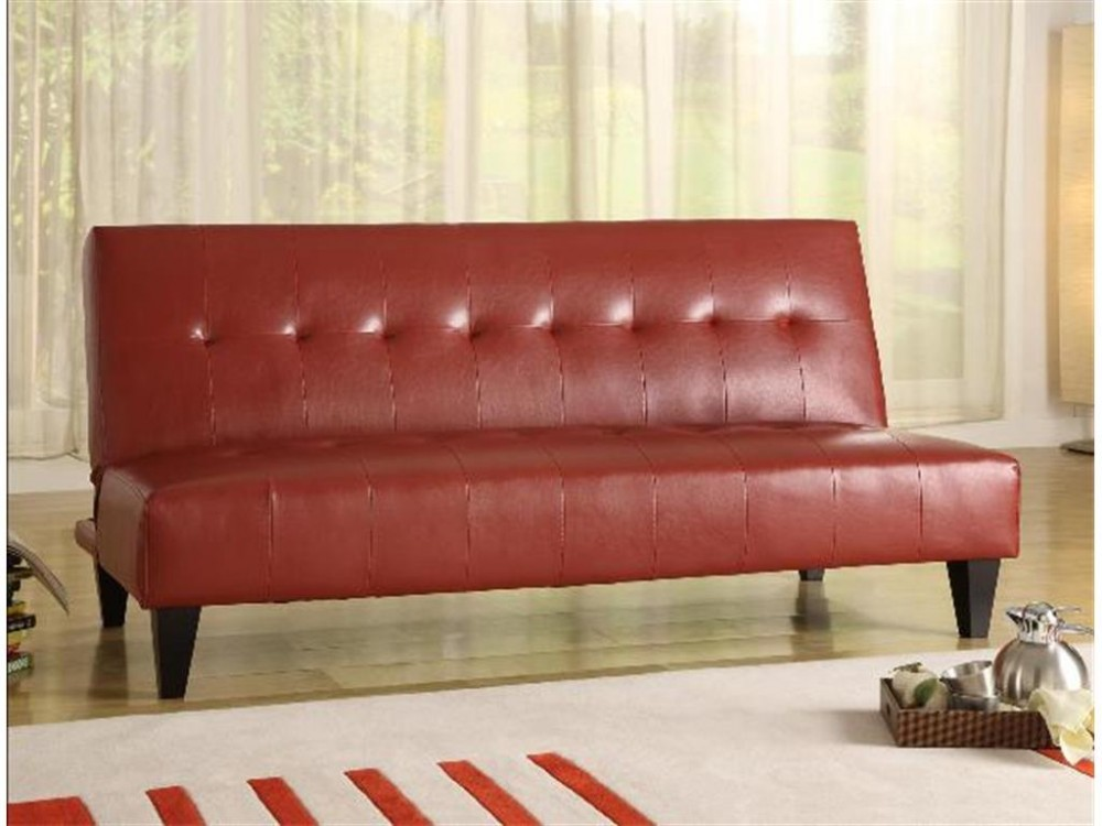 Marco Adjustable Sofa Red | 5260-red | Futon Couch | National ...