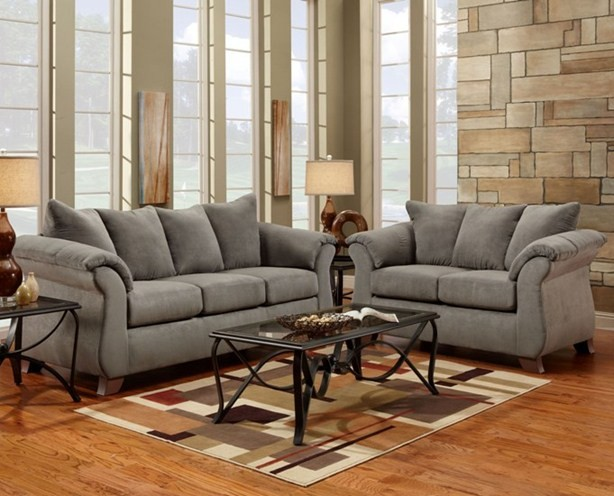 Sensations Grey Sofa and Loveseat