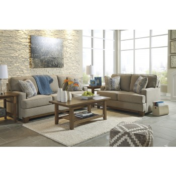 Hillsway - Pebble - Sofa & Loveseat