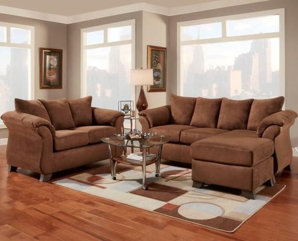 Aruba Chocolate Sofa Chaise