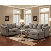 Sesations Grey Sofa Chaise
