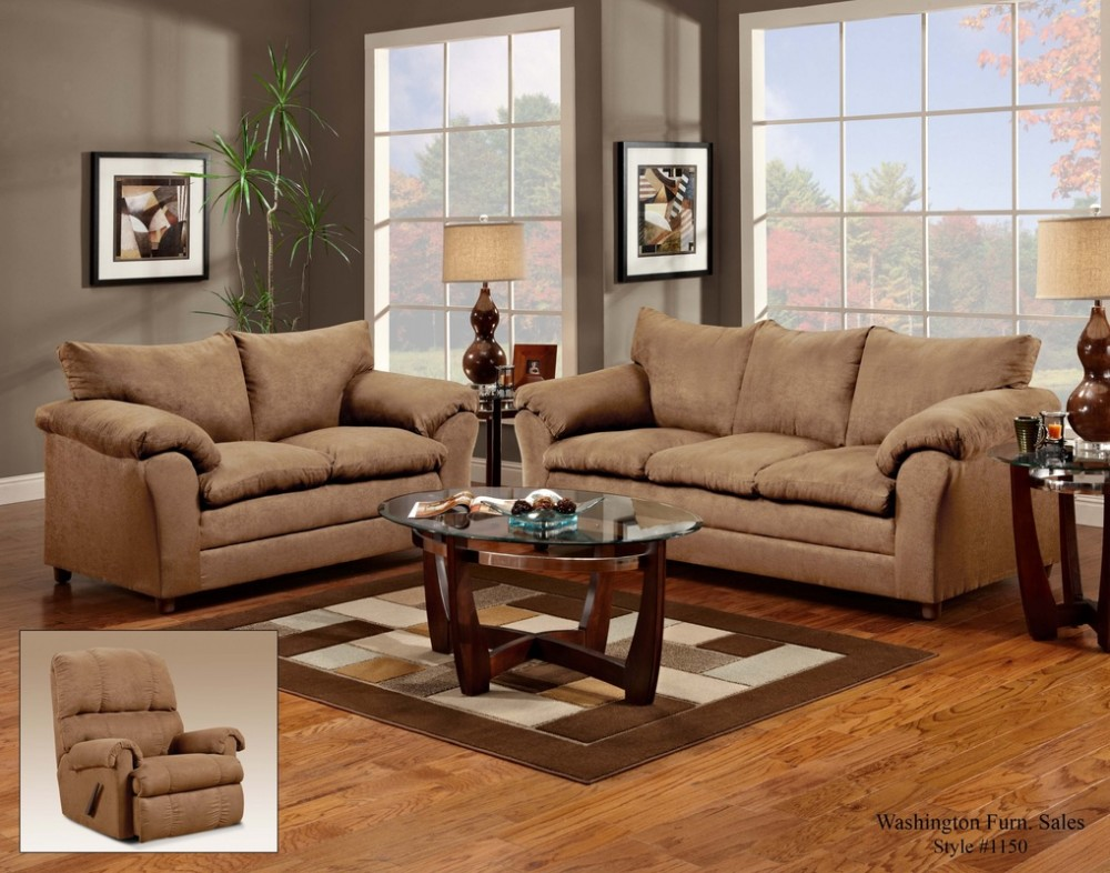 Bon Victory Lane Taupe Sofa And Loveseat