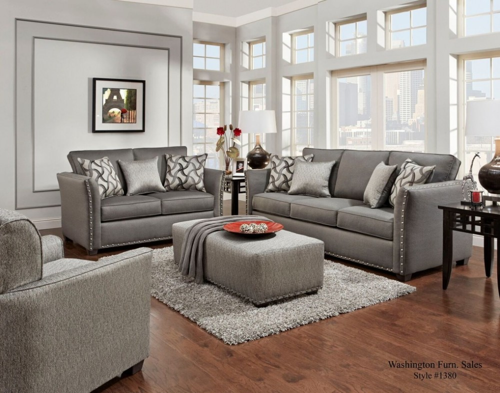 Technique Charcoal Sofa and Loveseat