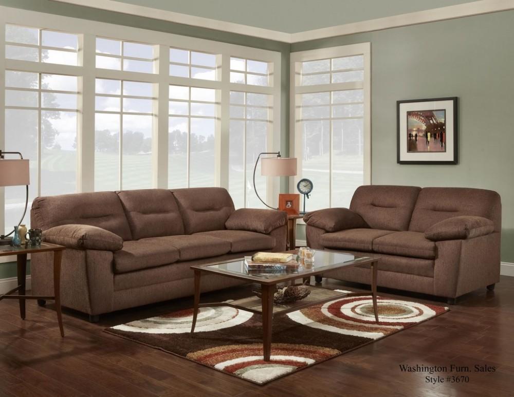 Cougar Choco Sofa and Loveseat
