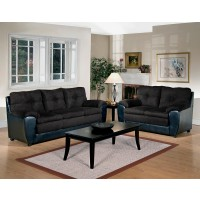 Mia Collection Black Sofa and Loveseat
